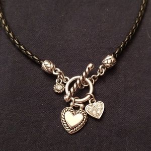 Lia Sophia heart charm necklace